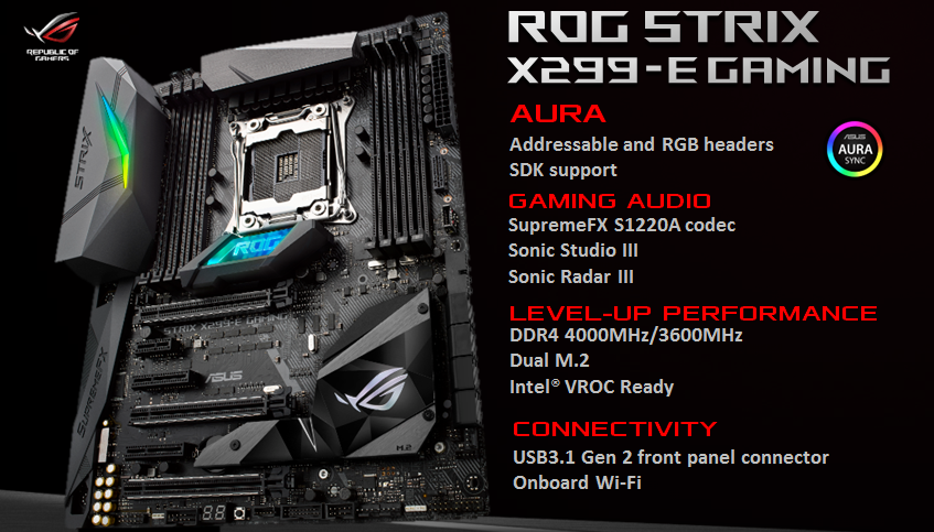 ASUS introduces the X299 based motherboards for the Intel Core X-Series 1