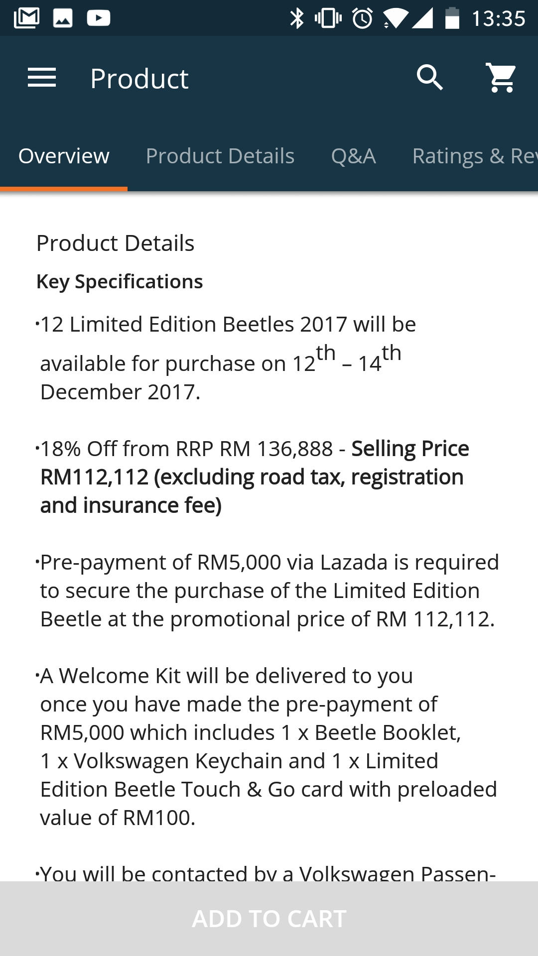 You can now buy Volkswagen cars on Lazada 4