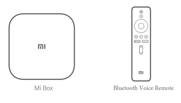 Mi Box 4 listing shows dedicated buttons for Netflix and Assistant on the remote 1