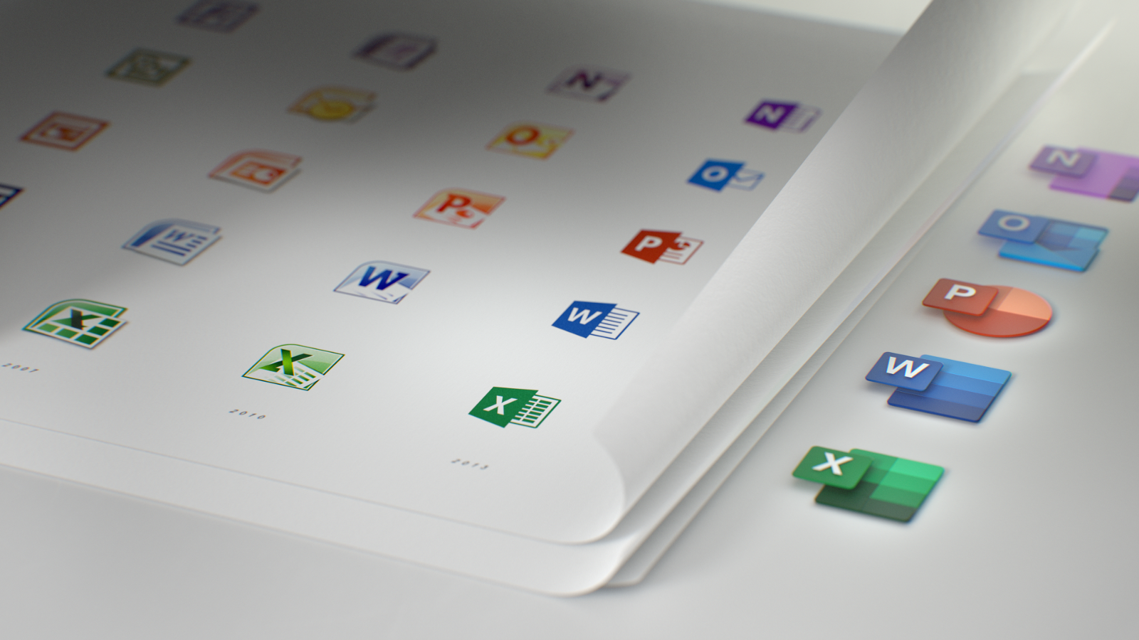 Microsoft's new icons for Office is a part of a design