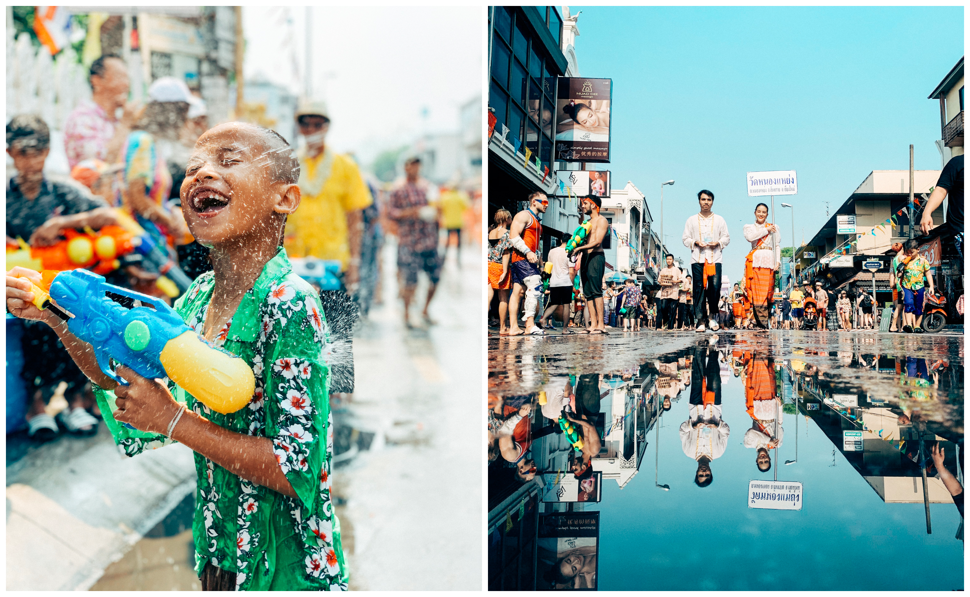 It's easy to soak in the pretty sights of Songkran captured by the iPhone 6