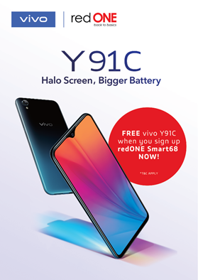Get a Vivo Y91C for free when you port-in to redONE 1