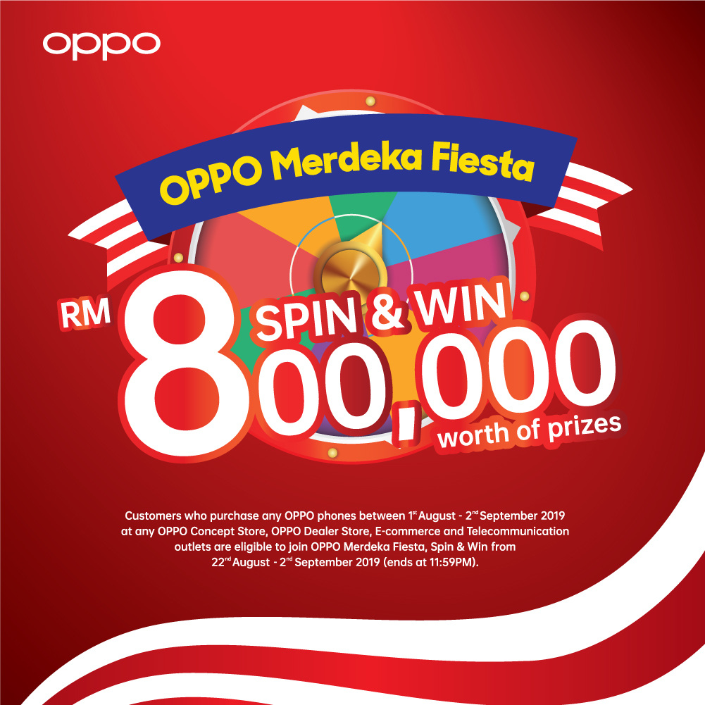 Stand a chance to win up to RM800,000 worth of prizes with OPPO's
