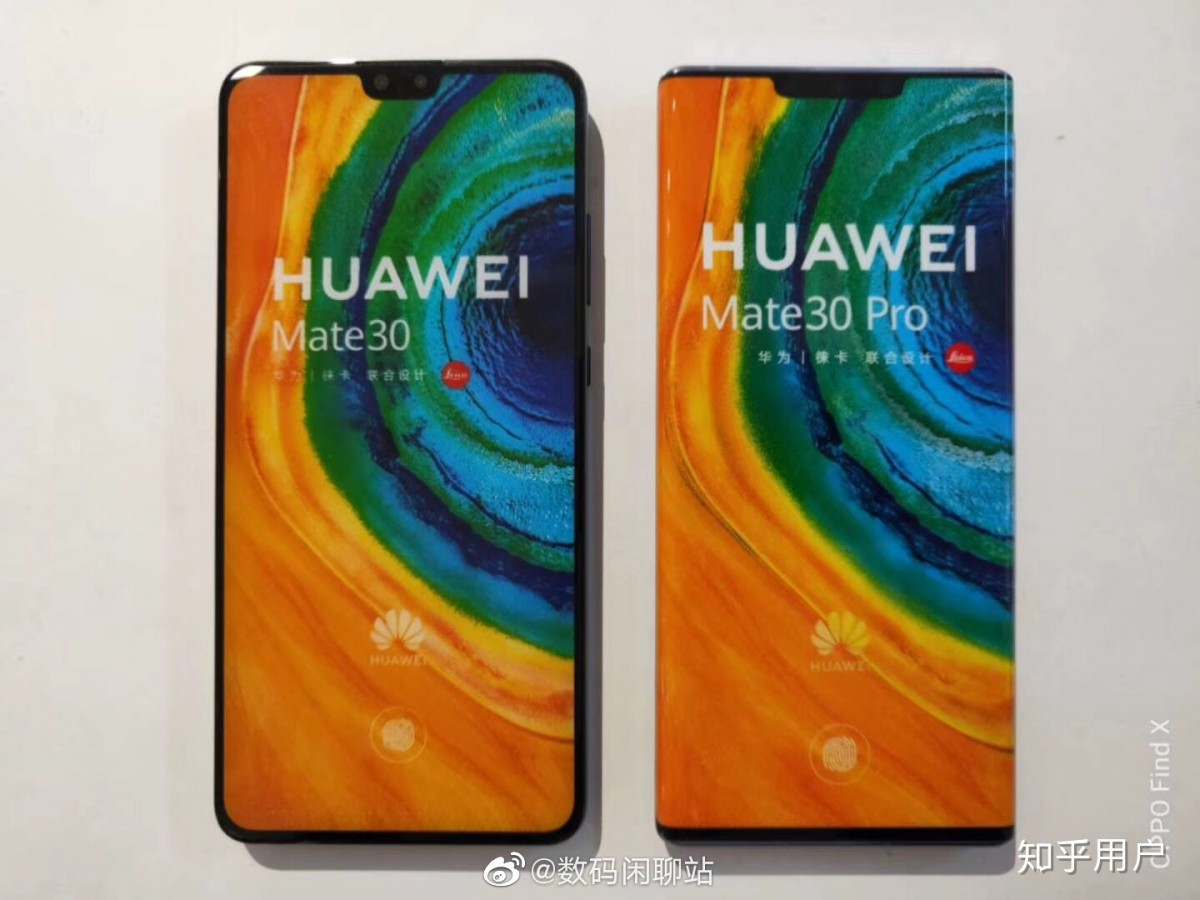 Huawei Mate 30 and Mate 30 Pro hands on leaks appear online - circle camera module with quad camera confirmed 1