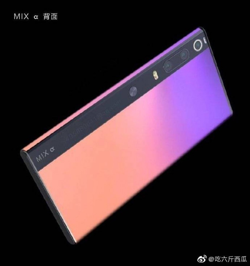 Xiaomi Mi Mix Alpha is a dual display phone that has a screen that curves all the way around, renders show 1
