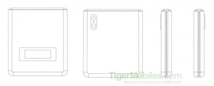 Xiaomi patents clam shell foldable phone that looks very much like the Motorola RAZR 1