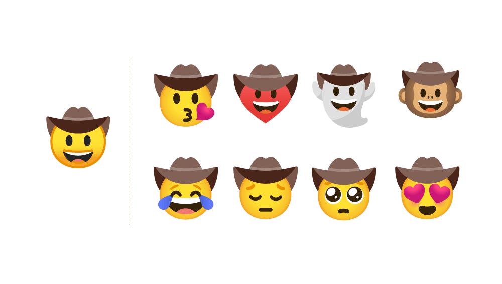 Emoji Kitchen on Google's Gboard combines different emojis to create new stickers 2