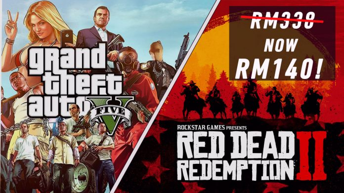 gta 5 red dead redemption 2 poster side by side malaysia price