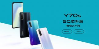 vivo y70s all colours in blue background
