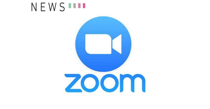 zoom logo video conference news white background