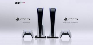 Sony Playstation 5 console white background
