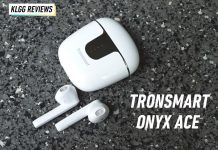 Tronsmart Onyx Ace white case
