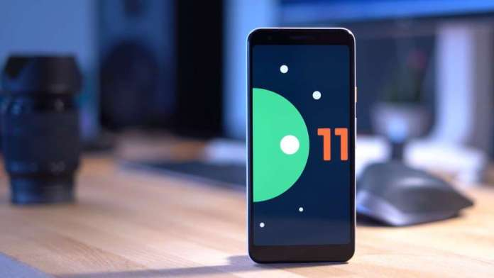 Android 11 on smartphone screen