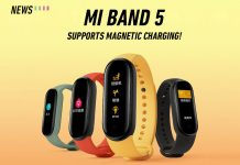 Mi Band 5, Xiaomi, magnetic charging