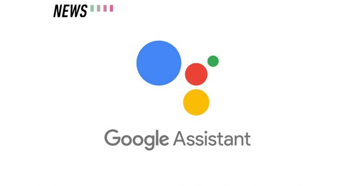 Google assistant logo in white