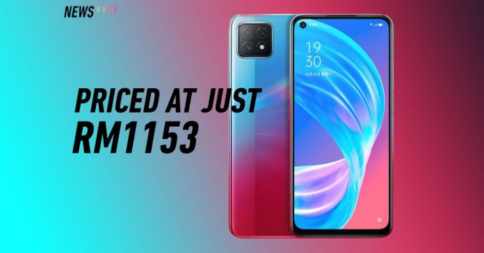 OPPO A72 5G blue and red colour