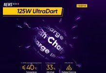 realme, 125W UltraDart Flash Charge, 125W