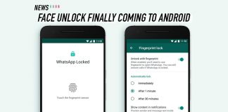 WhatsApp, Android, Face Unlock