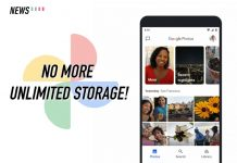 Google Photos, unlimited storage