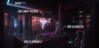 ASUS ROG, ASUS, ROG, CES 2021, ROG CLAYMORE II, ROG Gladius III Wireless, ROG Gladius III, ROG Swift, ROG Swift PG32UQ