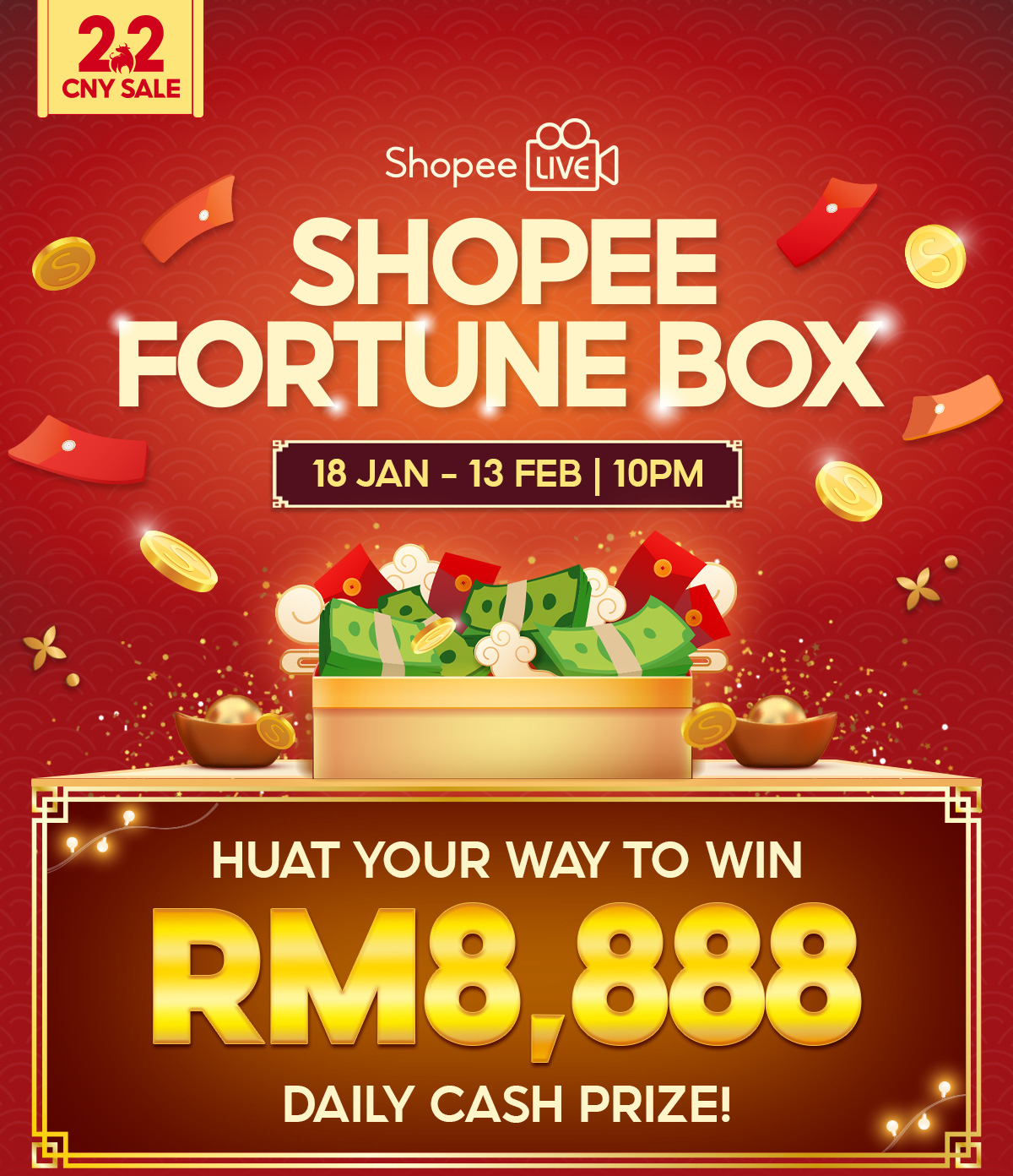 shopee 2.2 cny fortune box