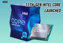 Intel Core 11th gen launched