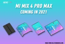 Mi Mix 4 Pro Max, Xiaomi, foldable phone