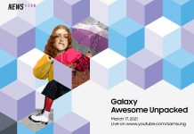 Galaxy Awesome Unpacked Event, Samsung, Galaxy A52. Galaxy A72